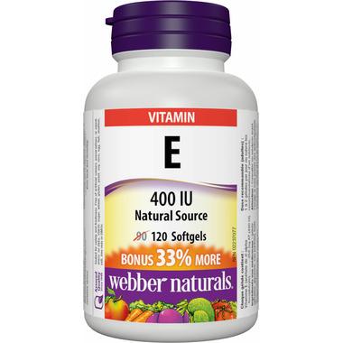 Webber Naturals Natural Source Vitamin E Softgels Bonus Size