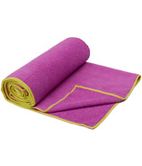 Gaiam Thirsty Yoga Mat Towel Radiant Orchid & Citron