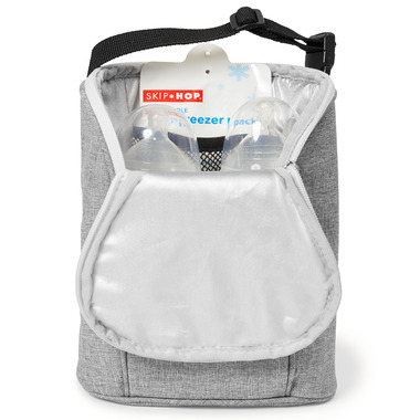 Skip Hop Grab & Go Double Bottle Bag Grey Melange