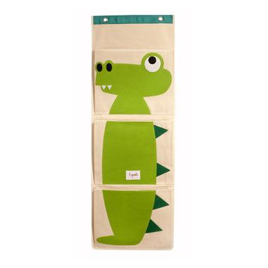 3 Sprouts Wall Organizer Green Crocodile