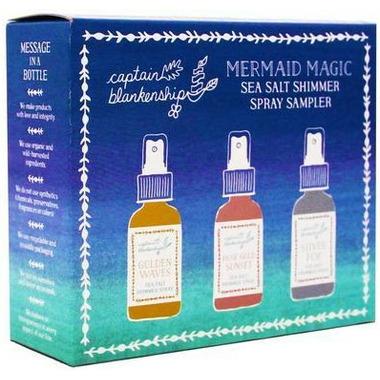 Captain Blankenship Mermaid Magic Sea Salt Shimmer Spray Set