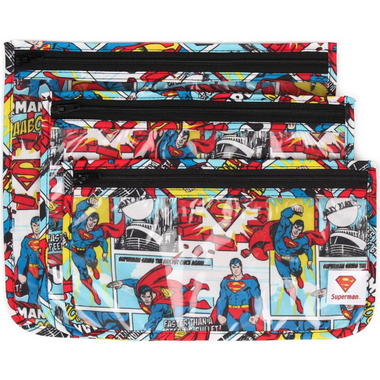 Bumkins Clear Travel Bags Superman