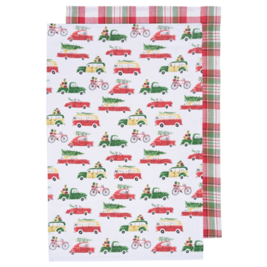 Now Designs Holiday Cards Dish Towels Set
