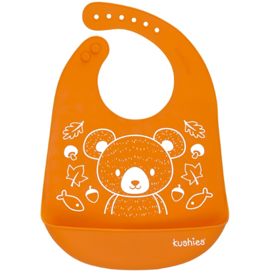 Kushies Silicatch Bib with Pocket