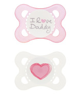 Mam Silicone Love & Affection Pacifier I Love Daddy Pink