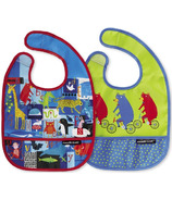 Crocodile Creek Bibs 2 Go with Pouch ABC Bears and Friends