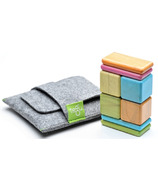 Tegu Original Pocket Pouch Magnetic Wooden Block Set - Tints