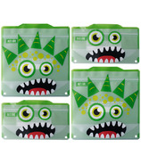 Russbe Reusable Snack/Sandwich Bags Green Monster