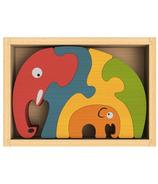 BeginAgain Elephant Family Puzzle