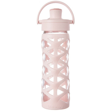 Lifefactory Glass Bottle with Active Flip Cap & Cherry Blossom Sleeve