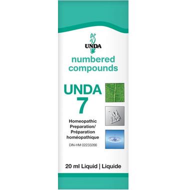 UNDA Numbered Compounds UNDA 7 Homeopathic Preparation