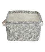 Silver Tree Grey Canvas Basket