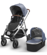 UPPAbaby Vista Stroller Henry Blue Marl with Leather Accents