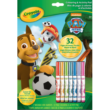 Crayola Paw Patrol Colouring and Activity Pad