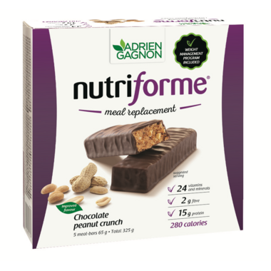 Adrien Gagnon Nutriforme Meal Replacement Bars Chocolate Peanut Crunch