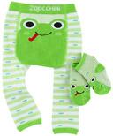 Zoocchini Comfort Crawler Legging & Socks Set Flippy the Frog