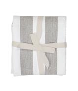 Harman Industrial Stripe Basketweave Tea Towels Grey and White