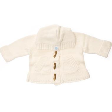 Beba Bean Knit Hoodie Ivory