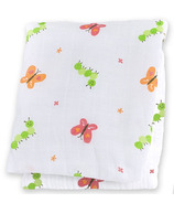 Lulujo Baby Muslin Cotton Swaddling Blanket Garden Party
