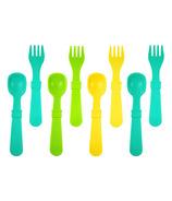 Re-Play Utensils Aqua, Green and Sunny Yellow