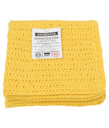 Now Designs Homespun Dishcloth Set Lemon