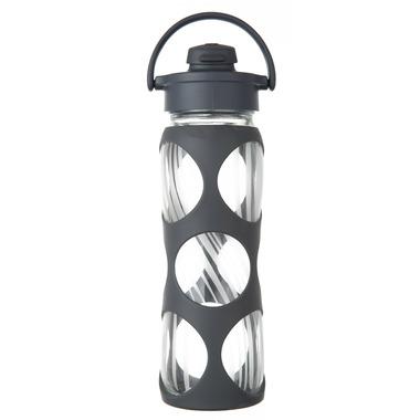 Lifefactory Glass Bottle Carbon Wave Flip Cap & Silicone Sleeve