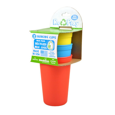 Re-Play Drinking Cups Primary Red, Yellow and Sky Blue