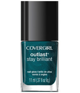CoverGirl Outlast Stay Brilliant Nail Gloss Teal on Fire (55)
