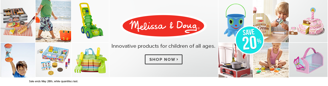 Save 20% on Melissa & Doug