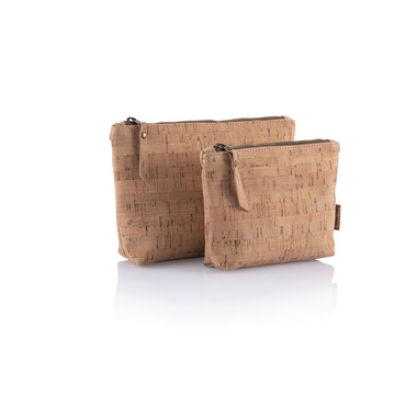 bambu Cork Fabric Zip Pouch Small