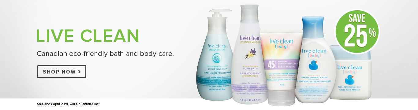 Save 25% on Live Clean