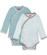 Skip Hop Petite Triangles Side-Snap Long Sleeve Bodysuit Blue