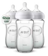Philips AVENT Natural 8 oz Glass Feeding Bottles