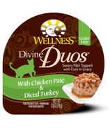 Wellness Divine Duos Chicken Pate & Diced Turkey