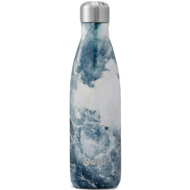 S\'well Blue Granite Stainless Steel Water Bottle Elements Collection