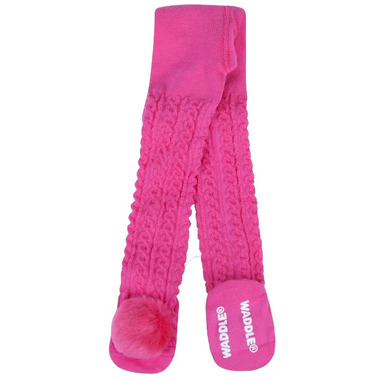Waddle Pom Pom Rattle Tights Hot Pink