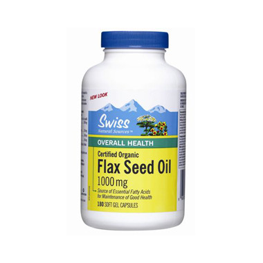 Swiss Natural Sources Certified Organic Flax Seed Oil