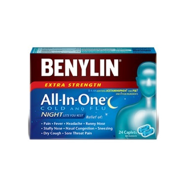 Benylin All In One Extra Strength Cold & Flu Night Caplets