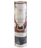 Farmhouse Biscuits Santa Tube With Butterscotch Toffee Biscuits
