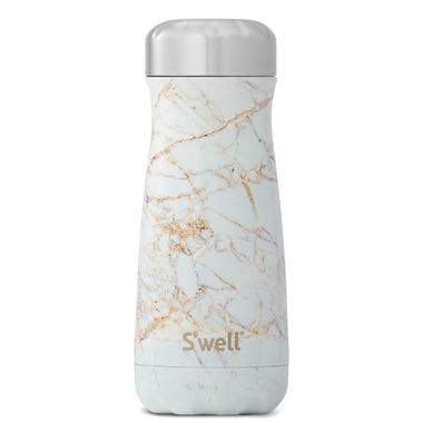 S\'well Traveler Stainless Steel Wide Mouth Bottle Calacatta Gold
