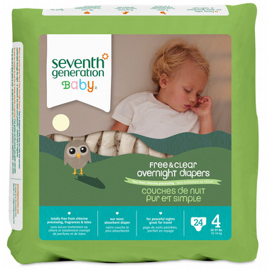 Seventh Generation Baby Free & Clear Overnight Diapers