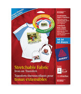 Avery Stretchable Fabric Transfers for Inkjet Printers