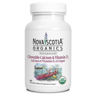 Nova Scotia Organics Chewable Calcium + Vitamin D3