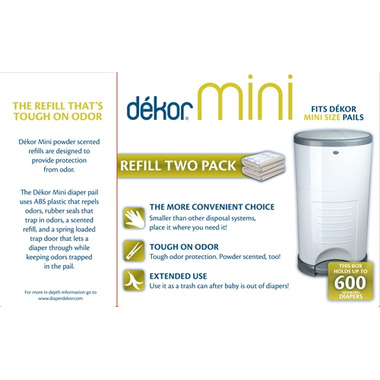 Buy dekor mini diaper pail refill at free for Dekor mini diaper pail