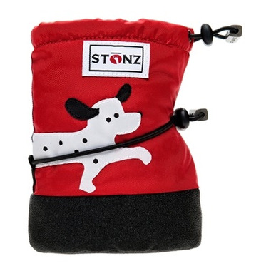 Stonz Red Dalmation Infant Booties