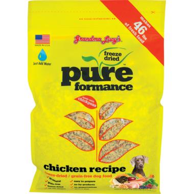 Grandma Lucy\'s Pureformance Chicken Freeze-Dried Grain-Free Dog Food