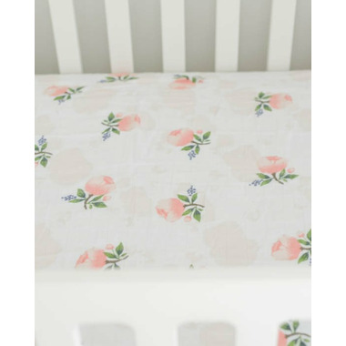 Little Unicorn Brushed Crib Sheet Watercolour Rose