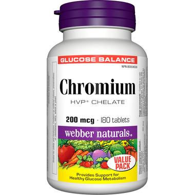 Webber Naturals Chromium Chelate Tablets
