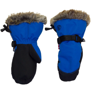 Calikids Water Repellant Nylon Shell & Faux Fur Mitts