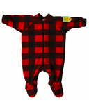 Snug As A Bug Baby Footed Onesie Canada Plaid
